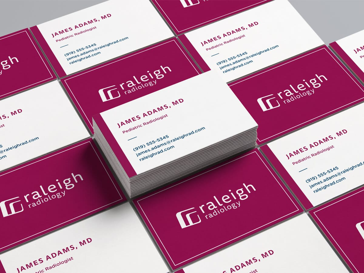 raleigh graphic designer healthcare logo design print design stationery