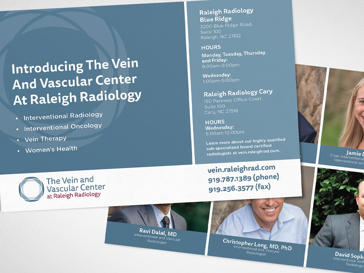 graphic designer raleigh healthcare print collateral brochure logo design
